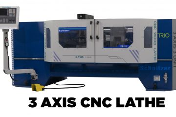 Trio 3 Axis CNC Wood Lathe Machine
