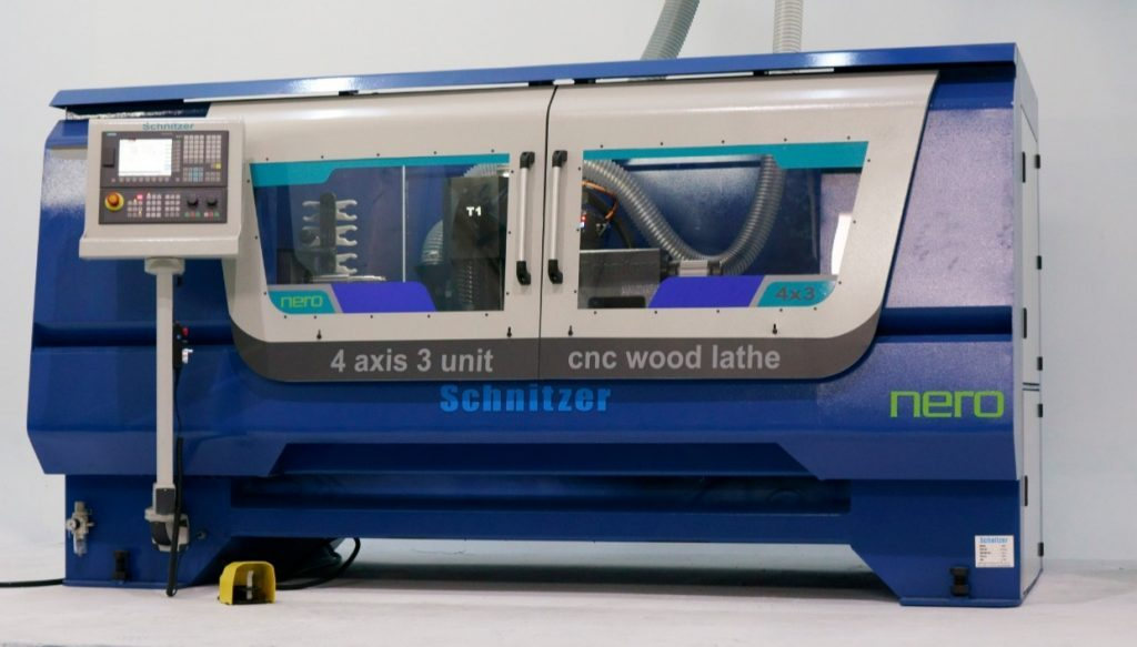 Where is wood lathe used?